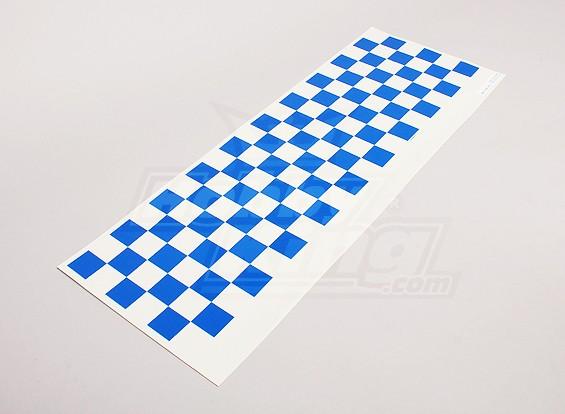 Декаль лист Chequer шаблон Синий / Clear 590mmx180mm