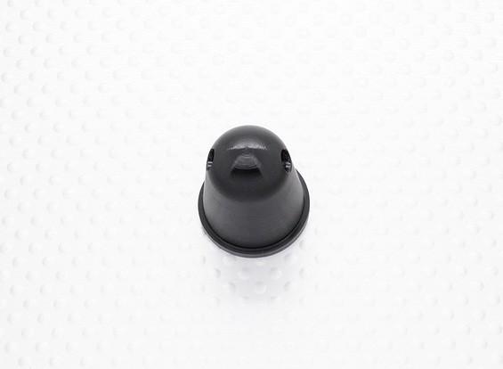 Опора Гайка / Spinner 22мм сплав M7x1.00 анодированный черный