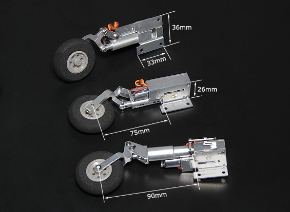 Turnigy Full Metal Servoless Ретракты с Oleo ноги (трицикл, тип BAE Hawk)