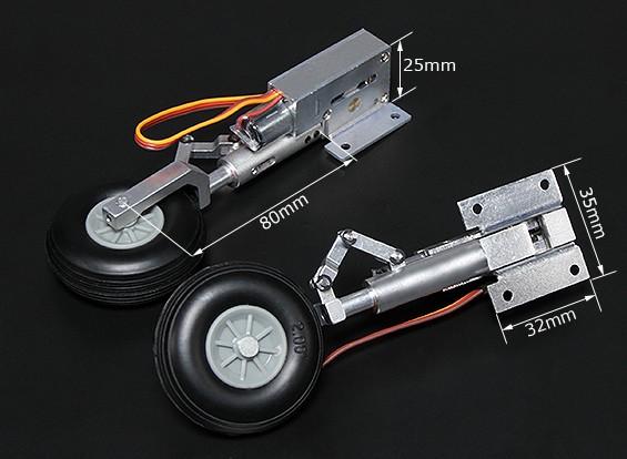 Turnigy Full Metal Servoless втянутых с 80mm Oleo ноги (90 градусов)