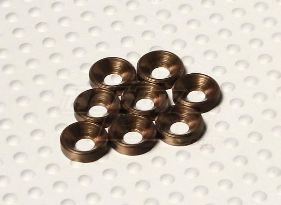 Потайной Шайба анодированный алюминий M3 (Titanium цвет) (8шт)