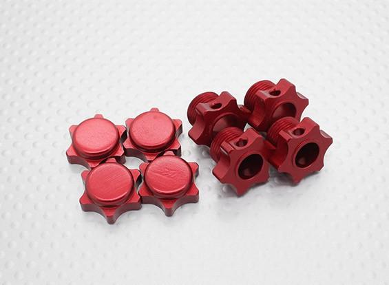 1/8 Scale алюминиевый Hex-концентратор - Красный (4PC)