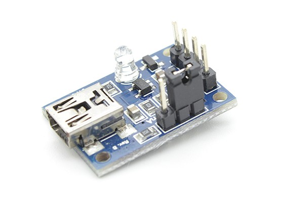 100-500mah LiPoly или LiIon 1 сотовый зарядное устройство Micro USB