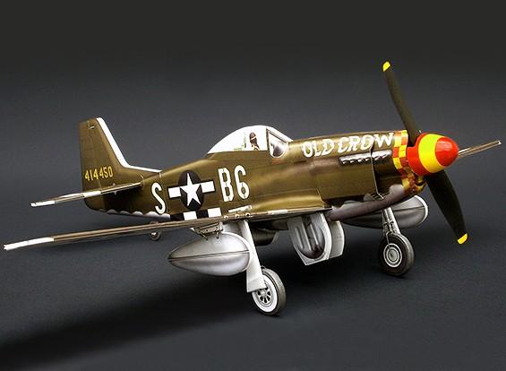MicroAces P51 D Mustang Old Crow Micro Самолет Depron Стандартный комплект
