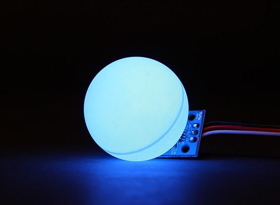 LED PCB Strobe синий 3.3 ~ 6.0V с мячом Рассеиватель