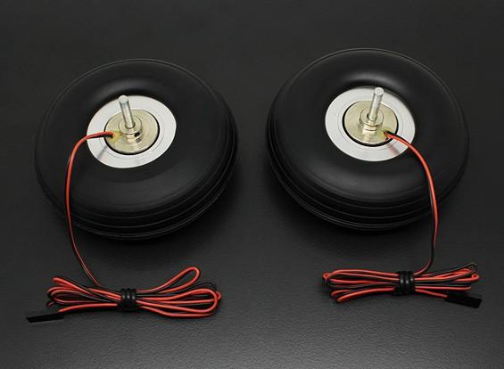"Turnigy электрический магнитный тормоз Колеса (Нет Контроллер) 90мм (3,5 "") Колесо (2pc)"