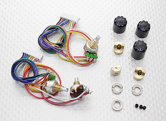 Potentiameter (Круглый Пот) - Turnigy 9XR передатчик (3set)