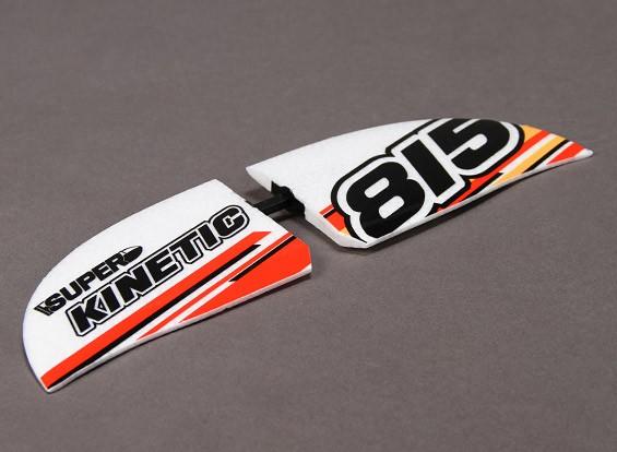 Супер Kinetic - Замена Горизонтальное крыло (с пластиковых деталей и наклейки)