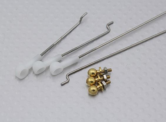 Супер Kinetic - Замена управления провода - сталь (с шариковым Link)