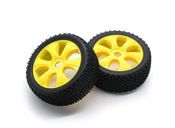 Hobbyking 1/8 Шкала 17мм K Spec Y-Spoke колеса / шины Hex (желтый)