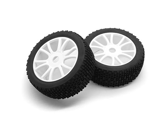 Hobbyking 1/8 Шкала Scrambler Y-Spoke колеса / шины 17мм Hex (белый)