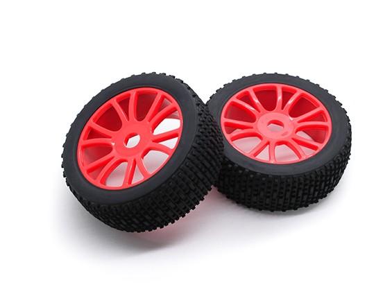 Hobbyking 1/8 Шкала Scrambler Y-Spoke 17мм колеса / шины Hex (красный)