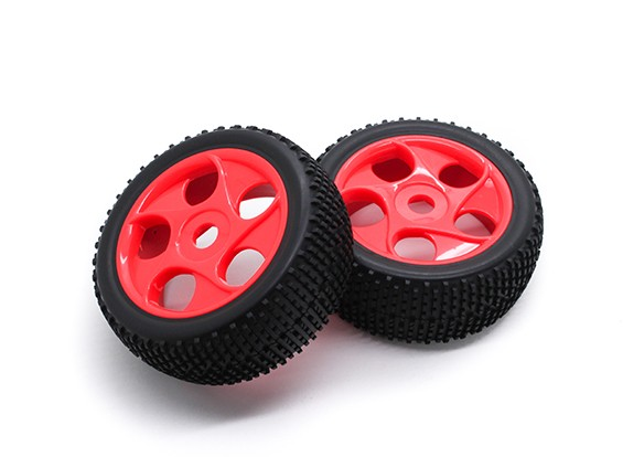 Hobbyking 1/8 Шкала K Spec Star Spoke Wheel / 17мм шин Hex (красный)