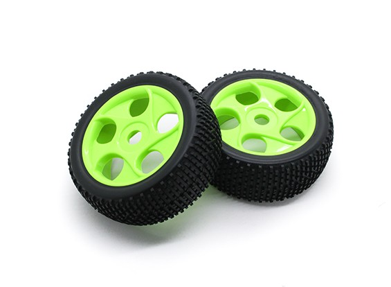 Hobbyking 1/8 Шкала K Spec Star Spoke Wheel / 17мм шин Hex (зеленый)