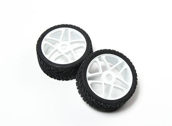 HobbyKing® 1/8 звезды белая колеса и на дороге шины 17мм Hex (2pc)