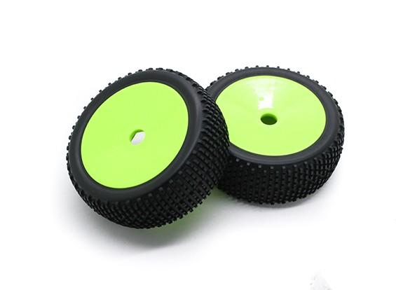 Hobbyking 1/8 Шкала 17мм K Spec Rally Dish колеса / шины Hex (зеленый)