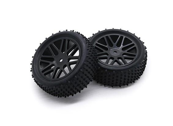 HobbyKing 1/10 аэратор Y-спицевые / 12мм шин (черный) колеса Hex (2 шт / мешок)