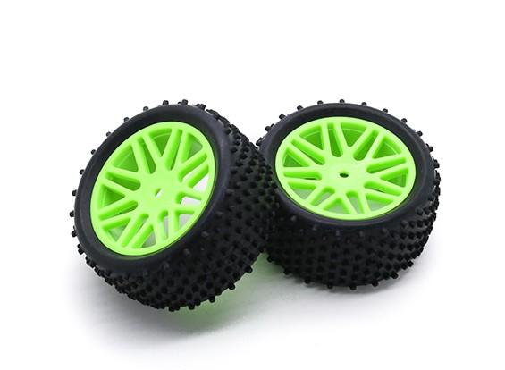 HobbyKing 1/10 аэратор Y-спицевые Задние / 12мм шины (зеленый) колеса Hex (2 шт / мешок)
