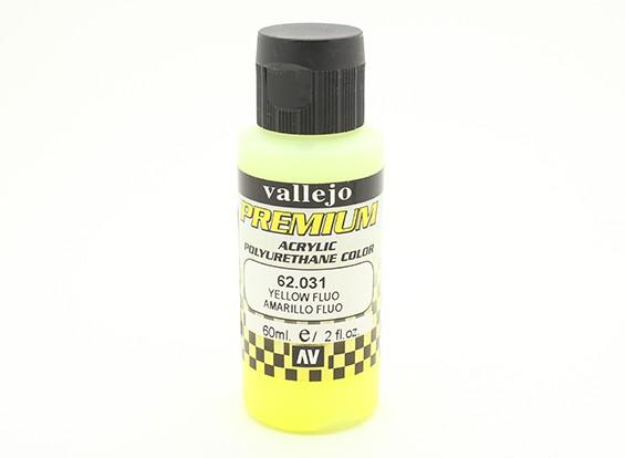 Вальехо Премиум Цвет Акриловая краска - Желтый Fluo (60мл)