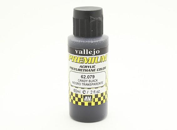 Вальехо Премиум Цвет Акриловые краски - Конфеты Черный (60мл)