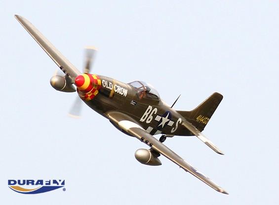 Durafly ™ 'Old Crow' P-51D Mustang ж / закрылками / втягивается / 1100мм огни (ПНФ)