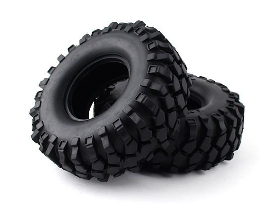 """Масштаб 1/10 1.9 """"Гусеничный Tire / КРТ Solid со вставкой (2 шт)"""