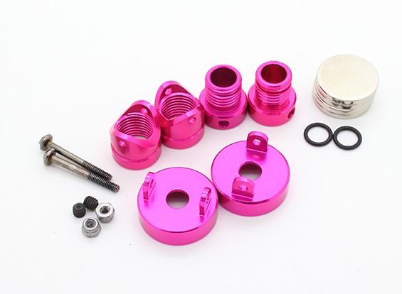 Невидимые алюминиевый корпус Маунт Сообщения (2pcs) Розовый