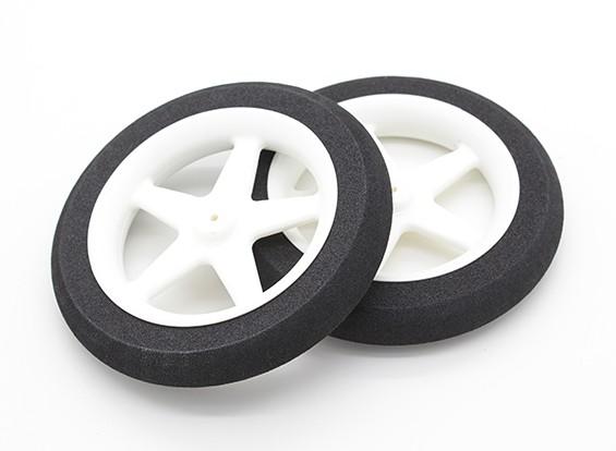 Свет пены колеса 5 говорил (диам: 80 мм, ширина 13 мм) (2pc)