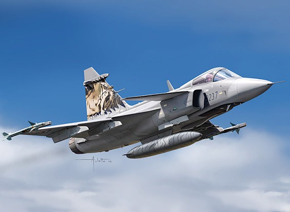 Italeri 1/72 Scale JAS 39 Gripen Plastic Model Kit