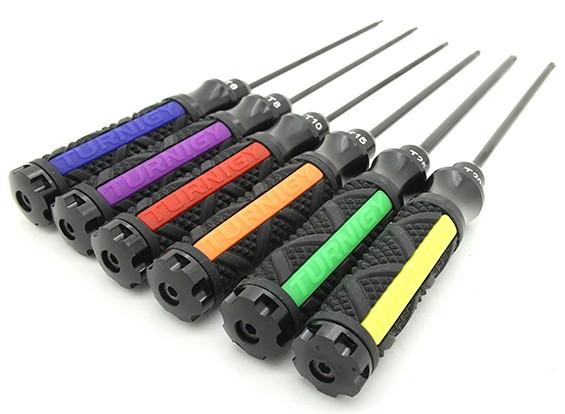 Turnigy резиновой ручкой Torx 6 шт Набор драйверов ж / Case