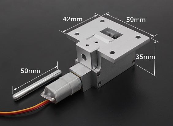 Все металлы Servoless 90 градусов Отвод для больших моделей (6кг) ж / 6мм Pin