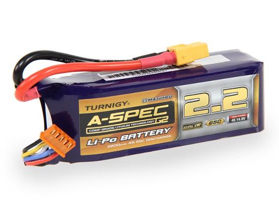Turnigy нано-технологий A-SPEC G2 2200mAh 4S 65 ~ 130C Липо пакет