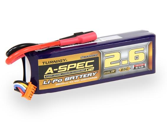 Turnigy нано-технологий A-SPEC G2 2600mAh 4S 65 ~ 130C Липо пакет