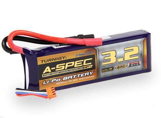 Turnigy нано-технологий A-SPEC G2 3200mAh 3S 65 ~ 130C Липо пакет