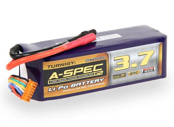 Turnigy нано-технологий A-SPEC G2 3700mah 6S 65 ~ 130C Липо пакет