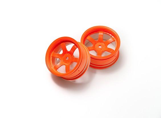 1:10 Ралли колеса 6-спицевые неоновый оранжевый (6 мм Смещение)