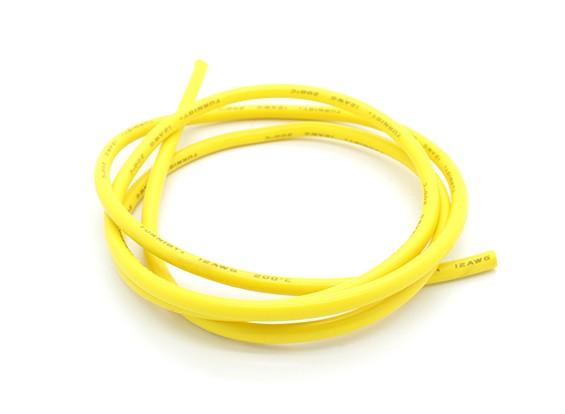 Turnigy Pure-силиконовый провод 12AWG 1м (желтый)