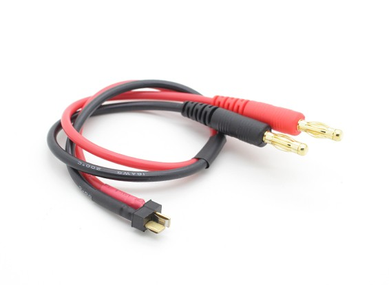 Мини T-Connector Charge Свинцовые Вт / 4 мм однополюсных вилок