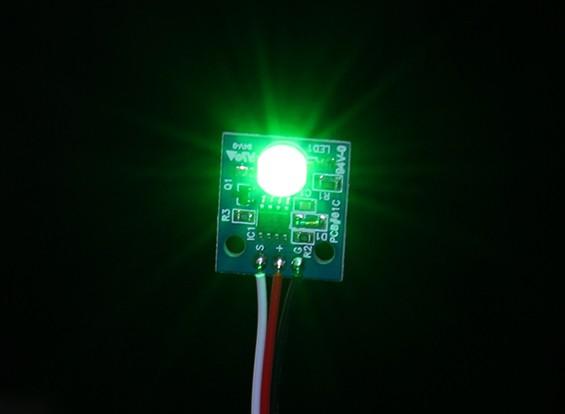 Hobbyking LED PCB строба шарика (12) Зеленый