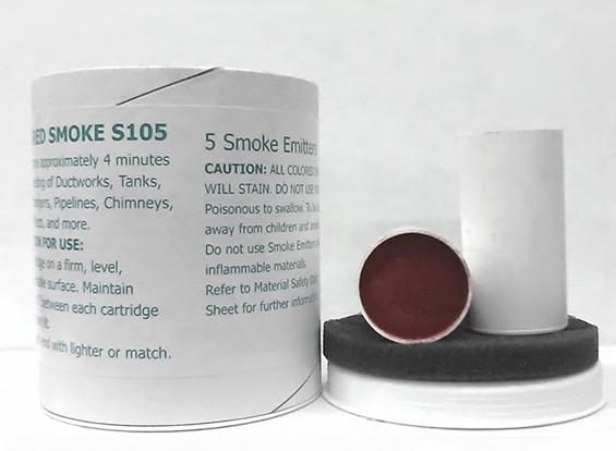 4 минуту Красный дымовые патроны (5 шт)