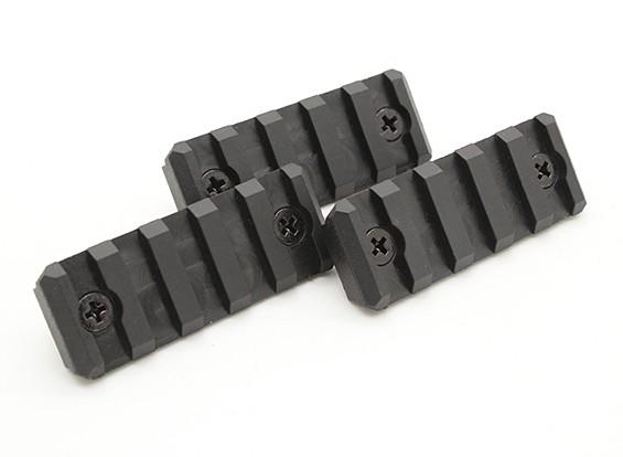 Dytac 5-Slot рельс секция для системы KeyMod (черный, полимерный, 3шт / мешок)