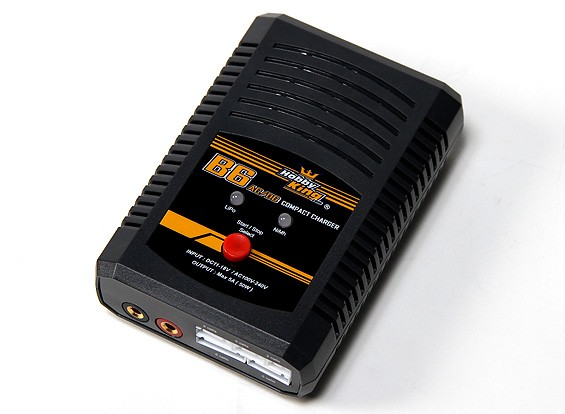 HobbyKing® B6 AC / DC Компактный Липо / NiMh 50W зарядное устройство (Великобритания Plug)