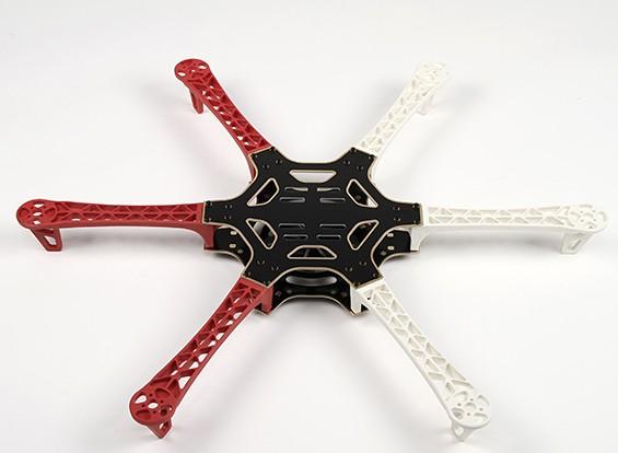 H550 V3 стекловолокна Hexcopter Рама 550мм - Интегрированная PCB Версия