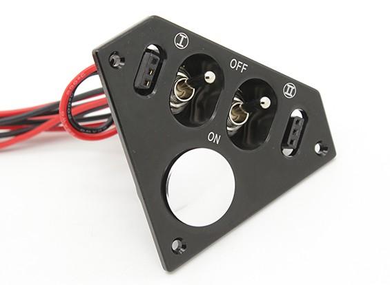 Средний долг Trianglular Double Futaba / JR переключатель Проводка со встроенным зарядный Sockets и топливо Dot
