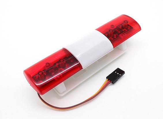 Система полиции LED освещение автомобиля Овальный Стиль (красный)
