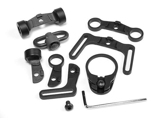 Элемент EX247 Многофункциональный Sling Поворотный комплект для M4 GBB (черный)
