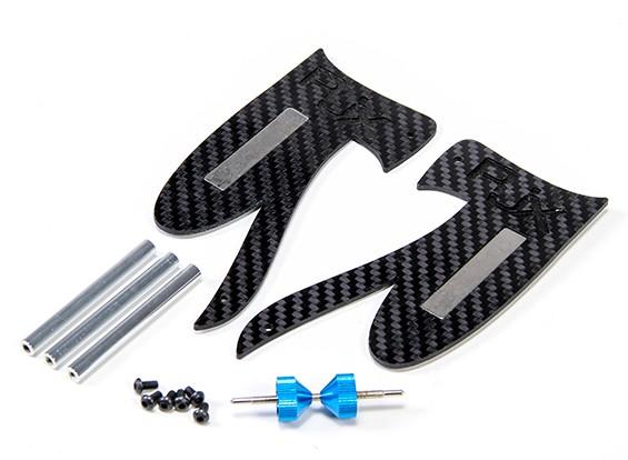 RJX углеродного волокна Точность Магнитная Prop Balancer