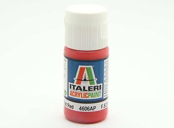 Italeri Акриловая краска - Плоский Красный