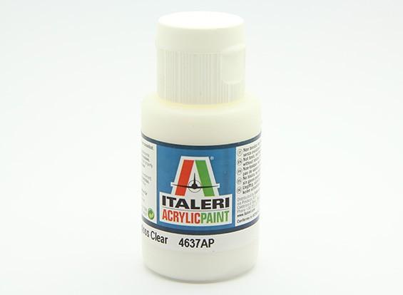 Italeri Акриловая краска - Полуглянцевый Очистить
