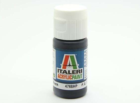 Italeri Акриловая краска - плоский черный